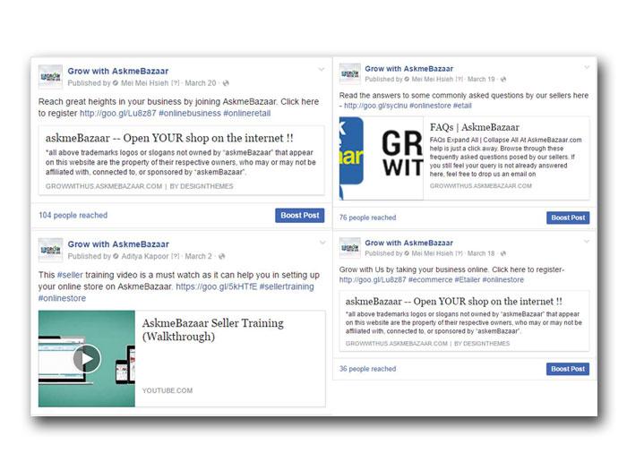 Driving Seller Registrations through Facebook