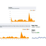Rise in fb page likes